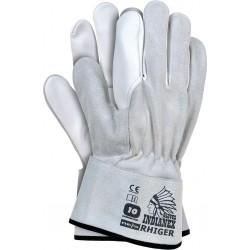 Rękawiczki skórzane robocze REIS RHIGER JSW r. 10