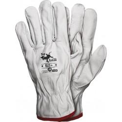 Rękawiczki ochronne RLCS+ W skóra kozia licowa r. 10 białe