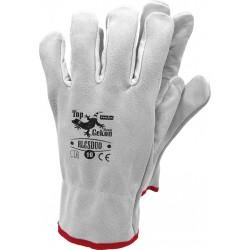 Rękawice robocze skórzane krótkie RLCSDUO JSW r. 10