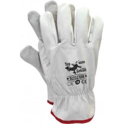 Rękawice robocze skórzane krótkie RLCSLUXOR r. 10