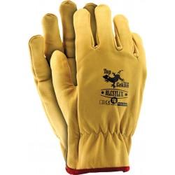 Rękawice ochronne skórzane TOPGEKON RLCSYLUX Y r. 10 żółte