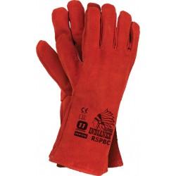 Rękawice RSPBCINDIANEX C całe ze skóry bydlęcej r. 11 czerwone