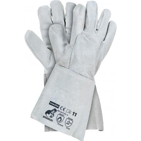Rękawice spawalnicze RSPBSZINDIANEX JS wykonane ze skóry bydlęcej r. 11