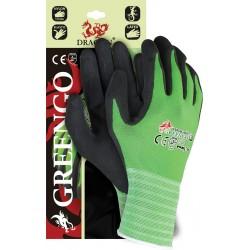 Rękawice ochronne wykonane z nylonu z lycrą GREENGO powlekane lateksem  r. 7 - 10