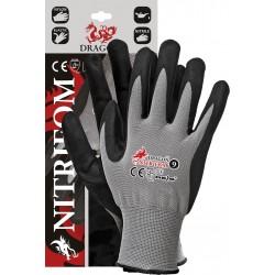 Rękawice ochronne REIS DRAGON NITRIFOM SB r. 7 - 10