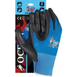 Rękawice ochronne wykonane z nylonu REIS DRAGON OCEAN NB r. 7 - 10