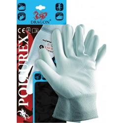 Rękawice ochronne z nylonu DRAGON POLIUREX JNW r. 6 - 11