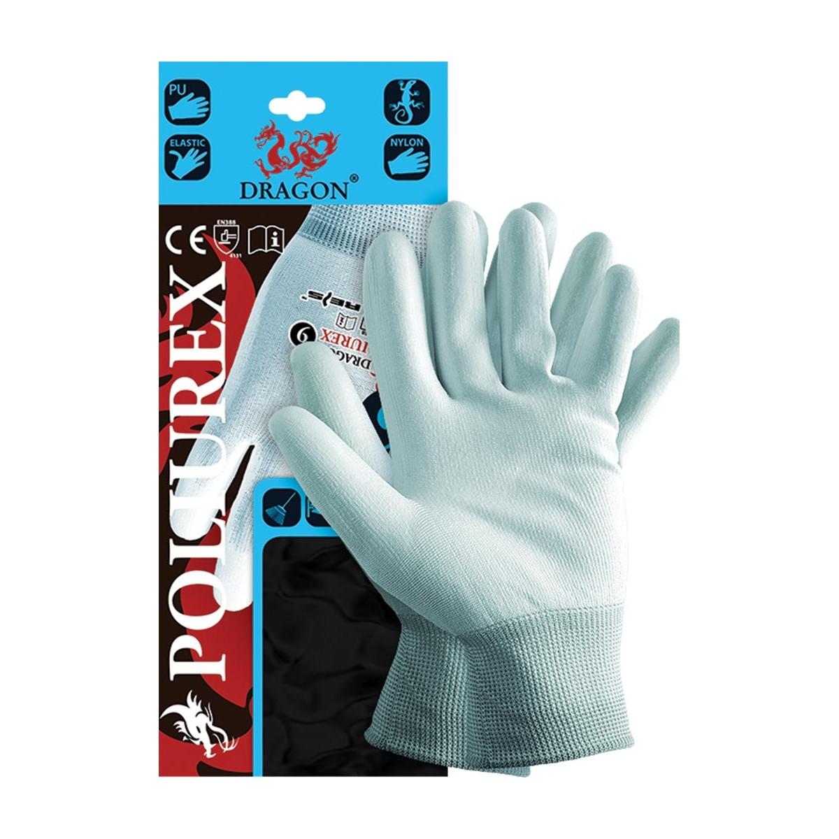 f2dabd2974d6f3 Rękawice rękawiczki robocze powlekane POLIUREX Dragon manualne