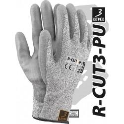 Rękawice ochronne z przędzy HDPE REIS LEVEL3 R-CUT3-PU BWS r. 7 - 11