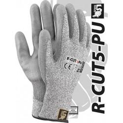 Rękawice ochronne przędza HDPE REIS LEVEL5 R-CUT5-PU BWS r. 7 - 11