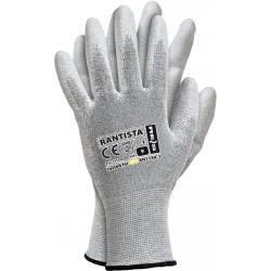 Rękawice ochronne antyelektrostatyczne ESD REIS RANTISTA BWW r. 7 - 10