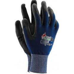 Rękawice ochronne z nylonu REIS DRAGON RBLUBIN NB  r. 7 - 10