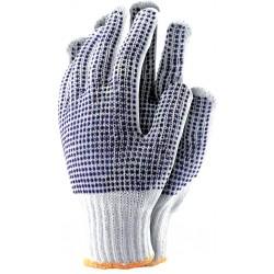 Rękawice ochronne z dwustronnym nakropieniem REIS RDZNN600 r. 8-10