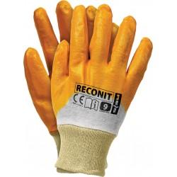 Rękawice ochronne powlekane nitrylem REIS RECONIT BEP r. 8 - 10