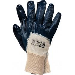 Rękawice ochronne powlekane nitrylem RECONIT-NL BEG r. 10