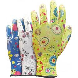 Rękawice ochronne powlekane nitrylem REIS RGARDEN-NI mix kolor r. 6 - 9