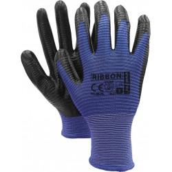 Rękawice ochronne nitryl REIS RIBBON NB r. 7 - 11