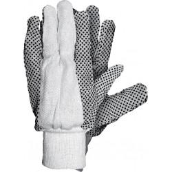 Rękawice ochronne z drelichu z nakropieniem REIS RN BEB r. 10
