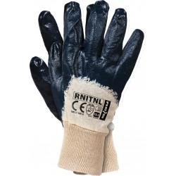 Rękawice ochronne powlekane nitrylem RNITNL BEG r. 10