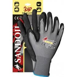 Rękawice ochronne z nylonu powlekane czarnym nitrylem SANDOIL SB r. 8 - 11