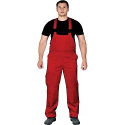 Spodnie ogrodniczki Leber & Hollman BISTER czerwone r. 48 - 62