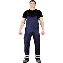 Spodnie ogrodniczki Leber Hollman LH-BISTER G granatowe r. 48 - 62