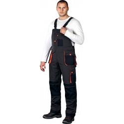 Spodnie ogrodniczki Leber & Hollman Formen LH-FMN-B stalowo-czarne r. 46 - 62