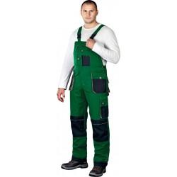 Spodnie ogrodniczki Leber & Hollman Formen LH-FMN-B zielone r. 46 - 62