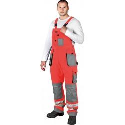 Spodnie ogrodniczki Formen LHFMNXB CSB czerwono-stalowo-czarne r. 46-62
