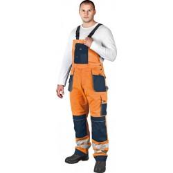 Spodnie ogrodniczki LHFMNXB PGS pomarańczowo-granatowo-szare r. 46 - 62