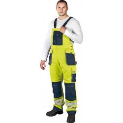 Spodnie ogrodniczki Leber Hollman FORMEN LH-FMNX-T YGS żółte r. 46 - 62