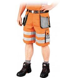 Spodnie krótkie FORMEN LHFMNXTS PSB pomarańczowo-stalowo-czarne r. S - 3XL