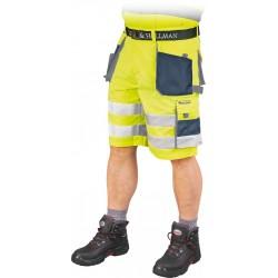 Krótkie spodnie robocze z kieszeniami FORMEN LH-FMNX-TS YGS r. S - 3XL