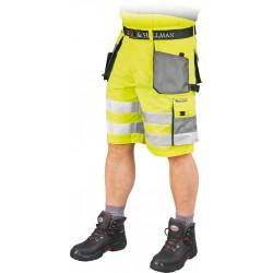 Spodnie krótkie FORMEN LHFMNXTS YSB żółto-stalowo-czarne r. S-3XL