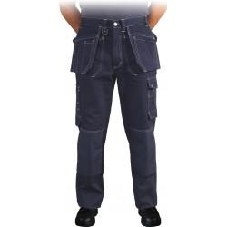 Spodnie ochronne do pasa Leber & Hollman Stoner granatowe 100% bawełna r. 48 - 60