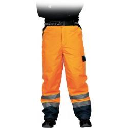 Spodnie do pasa ocieplane fluorescencyjne Leber & Hollman r. M - 3XL