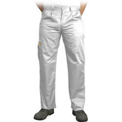 Spodnie ochronne do pasa Leber & Hollman VOBSTER białe r. 25 - 110