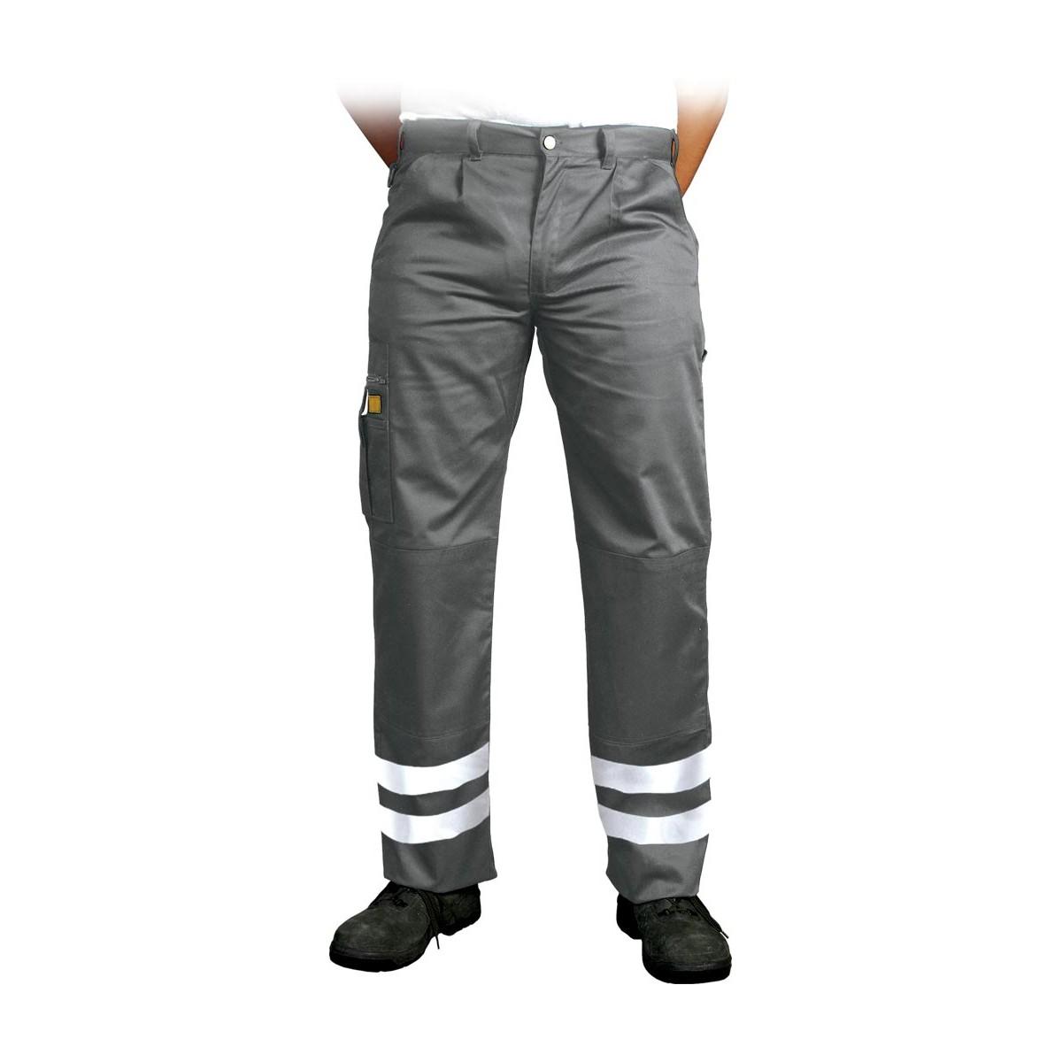 Spodnie ochronne do pasa pasy odblaskowe Vizlite LH VOBSTER X szare