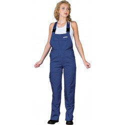 Spodnie ochronne damskie ogrodniczki Leber & Hollman LH-WOMBISER granatowe r. 36 - 50