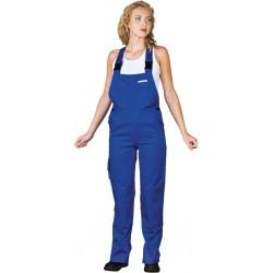 Spodnie ochronne damskie ogrodniczki Leber & Hollman LH-WOMBISER niebieskie r. 36 - 50