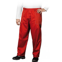 Spodnie ochronne do pasa REIS Multi Master czerwono-czarne r. 46 - 62
