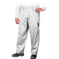 Spodnie ochronne do pasa REIS Multi Master biało-niebieskie r. 46 - 62