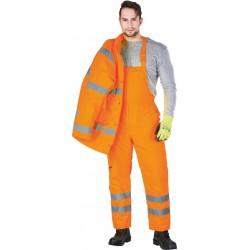 Spodnie ochronne ogrodniczki ocieplane REIS S-VIS pomarańczowe r. M - 3XL