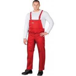 Spodnie robocze ogrodniczki REIS Master SMC czerwone r. 48 -62