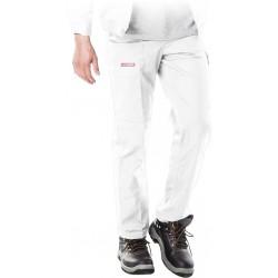 Spodnie ochronne do pasa REIS MASTER białe r. 48 - 62