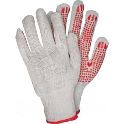 Rękawice ochronne z dzianiny z nakropieniem REIS RDZN_NATU SC r. 9