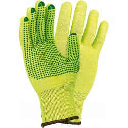 Rękawice ochronne dziane z nakropieniem RJ-POLV L r. 7 - 10