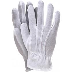 Rękawice ochronne wykonane z bawełny RWKBLUX W r. 7 - 10