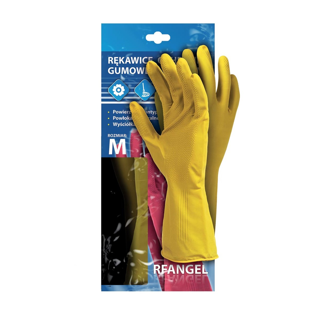 Rękawice ochronne gumowe flokowane RF Y r. S - XL