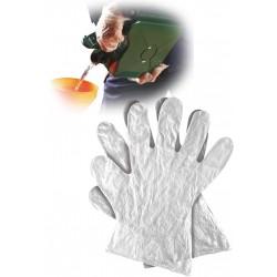 Rękawice ochronne wykonane z folii RFOLIA N r. M,L